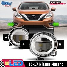 Fits 15-17 Nissan Murano Clear Lens PAIR LED Fog Light Lamps OE Replacement DOT