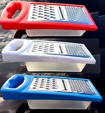 New Handheld Box Grater Storage for Grating Cheese Veg Fruit Chocolate Nutm