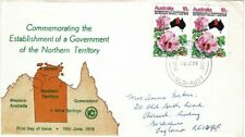 Australia 1978 Establishment Gvmt Northern Territory Wcs First Day Cover To Uk