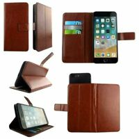 Premium Leather Mobile Phone Brown Wallet Book Case  For Icemobile Gprime Extrem