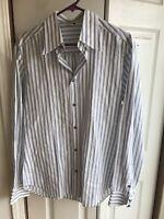 D&G Dolce & Gabbana White Cotton Long Sleeve Button Down Dress Shirt Sz 34 / 48