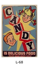 Tin Sign Candy Children Delicious Food Retro Metal Signs Plaques Wall Home Decor