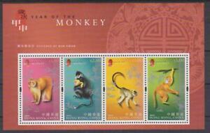 2004 Hong Kong SC# 1076b-New Year of the Monkey-Souvenir Sheet -M-NH
