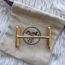 Authentic Hermes belt buckle 32 mm Golden IDEM