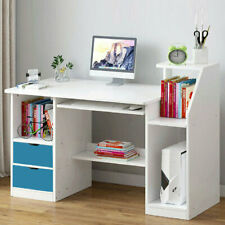 100cm Computer Desk Laptop PC Table Storage Cupboard Student Office Worksation