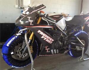 BikeTek Tyre Warmers Set 120 & 180 > 190 Rear Motorcycle Race & Track Euro Plug
