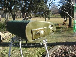 MODEL 'T' FORD ERA BRASS FOOT WARMER HEATER + 2 ADVERTISEMENTS.& ORIGINAL COAL