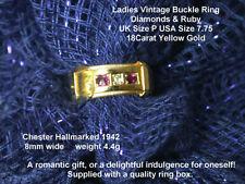 Ruby Yellow Gold Ring Retro Fine Jewellery (1940s)
