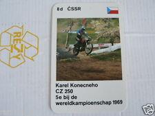 23 MOTO-CROSS 8D CSSR KAREL KONECNEHO CZ 250 MX KWARTET KAART, QUARTETT CARD,
