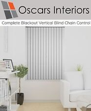 """Complete Ready To Go Blackout Vertical Blind Cord and Chain Operation 3.5"""" 89mm"""