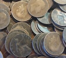 100 OLD PENNY COINS FROM 1860 TO 1967