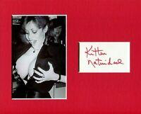 Kitten Natividad Ultra-Vixens Russ Meyer Actress Signed Autograph Photo Display