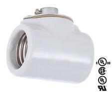 Two Sided Porcelain Light Socket ~ Vintage Style Twin Bulb Lamp Holder
