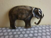 Vintage Brass Elephant By Peerage England