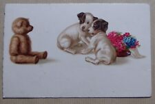 FA585) CPA CHIENS CHIOTS ... ours en peluche - A.G.B. n° 3149
