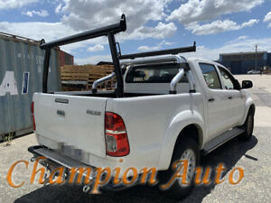BLACK Alloy Ladder Rack WITH Extension Bar for TOYOTA Hilux 2000-2014