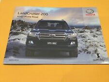 TOYOTA LANDCRUISER OFFICIAL BOOK FREE POST  4x4 CAMPING OUTDOOR