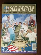 More details for free post. 2001 ryder cup (cancelled due to 9/11) golf programme memorabillia
