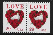 US Scott #2814, PAIR 1999 LOVE 29c VF MNH