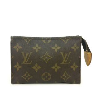 Louis Vuitton Monogram Poche Toilette 15 Cosmetics Pouch Purse /91945