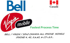 BELL / VIRGIN SEMI PREMIUM SERVICE UNLOCK BY IMEI ALL IPHONE MODELS TILL X