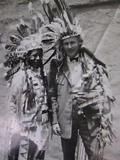 Vintage Black & White Real Photo Native Indian Full Dressed with Headdress