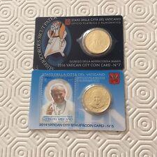 2 coincards Vatican avec pièce de 50 cts