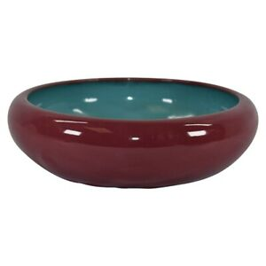 California Faience Pottery Large Mulberry With A Blue Interior Bowl