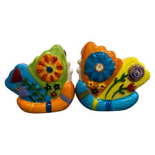 Westland Giftware Butterfly Salt Pepper Shakers Ceramic Kitchen Magnetic Bright