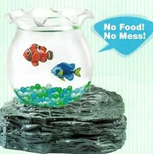 2 FISH NEW VERSION Magic Fake Swimming Bowl Magnetic Aquarium Battery Operated