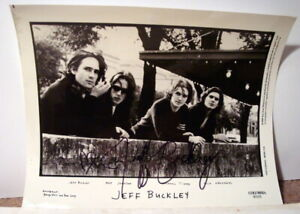 "JEFF BUCKLEY SIGNED AUTOGRAPHED 8"" x 10"" B&W PHOTO"