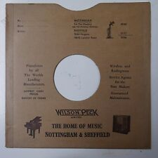 "10"" 78rpm gramophone record sleeve WILSON PECK nottingham & sheffield"