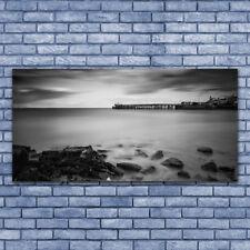 Acrylglasbilder Wandbilder Druck 140x70 Meer Steine Landschaft