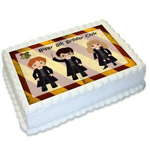 Harry Potter Inspired A4 Edible Icing Cake Topper