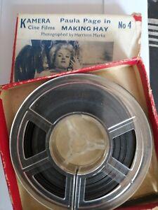 VINTAGE 1950s 8mm PAULA PAGE KAMERA CINE FILM No 4 MAKING HAY HARRISON MARKS