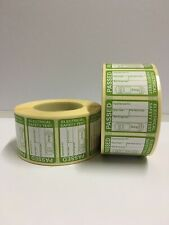 Pat Test Labels X 1000 Passed Stickers Electrical * P P*