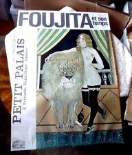 VINTAGE POSTER PAINTER FOUJITA HIS TIMES NUDE WOMAN LION SWISS GENEVA 1970S