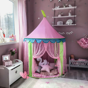 Foldable Play Tent + Bag Princess Castle Girls Childrens House Indoor Outdoor