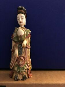 Chinese Carved Female Figure Snuff Bottle