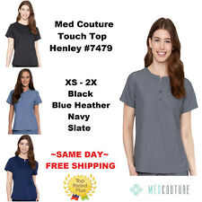 Med Couture Touch Nurses Henley Scrub Top 7479 Xs-2X ~Nwt~ Same Day Free Ship~