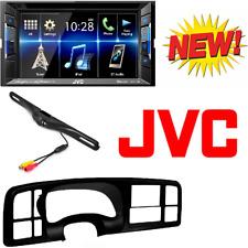 JVC 2 DIN Bluetooth DVD/CD Car Stereo Dash Kit for Select 99-02 Siera silverado