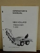 Oem Factory New Holland T330 Trencher Operators Maintenance Lubrication Manual