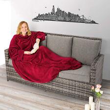 Coperta con tasche le maniche soffice dormire divano copriletto tasca 150x180 ro