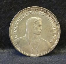 1953 Switzerland silver 5 francs, Wilhelm Tell, nice high grade, KM-40 (SZ4)