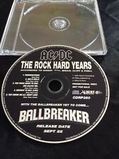 AC/DC THE ROCK HARD YEARS CD AUSTRALIA  AUSSIE ALBERT PRODUCTIONS RARE CDRP350