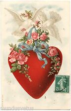 Jolies Colombes . Fleurs . Coeur . Doves . Flowers . Heart