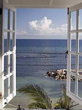 Bild Glasbild Meer Fenster 80x60 Cm DEKO Landschaften Artland