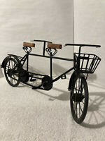 """Vintage DECORATIVE TANDEM BICYCLE BUILT FOR TWO 23"""" x 11"""" Display Moving Parts!"""