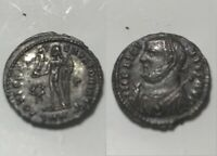 Licinius globe mappa Jupiter victory wreath genuine Ancient Roman coin silvering