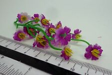 1:12th 15 Mauve  Flowers Doll house Miniatures Garden ( x 3 Bunches)